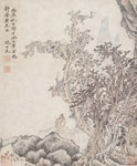 Man and Servant Beneath Trees 1616