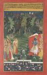 Untitled, Krishna meets with Radha