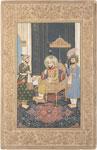 untitled, Ahmad Shah on throne