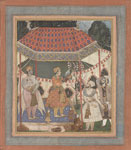 untitled, Akbar in a Hunting tent