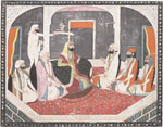 Maharaja Sher Singh and courtiers