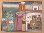 Kansa, the king of Mathura orders demons into his presence