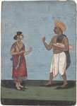 Untitled, a Maratha and his wife