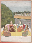 untitled, ladies on a terrace