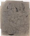 Untitled, Hanuman carrying Rama and Lakshman