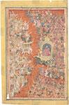 The Gods fight Mahishasura